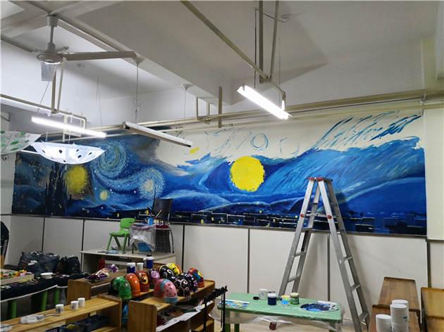 学校手绘涂鸦墙