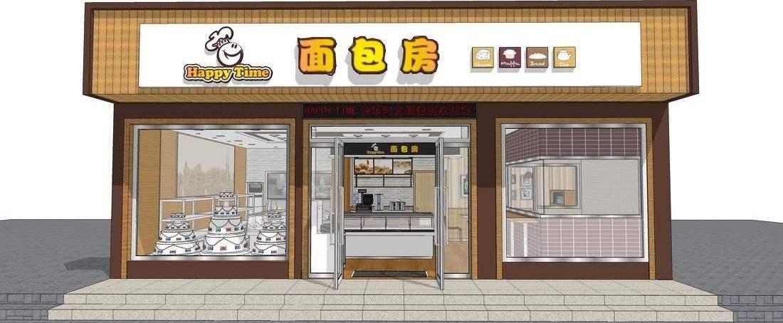 面包店门头设计