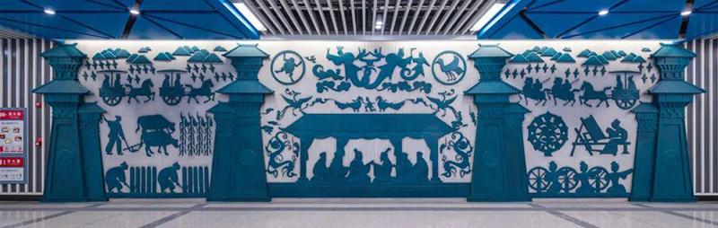 西安地铁文化墙火了!成为年轻人争相打卡之地!