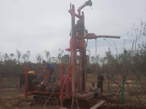 西安西三环林带100米深井打井