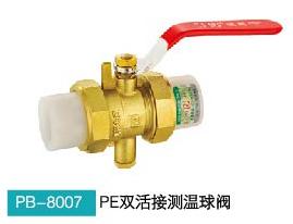 B-鹏邦8007 PE(20-20双活接测温球阀)