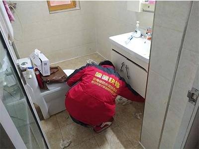 天朗蓝湖村地暖管漏水