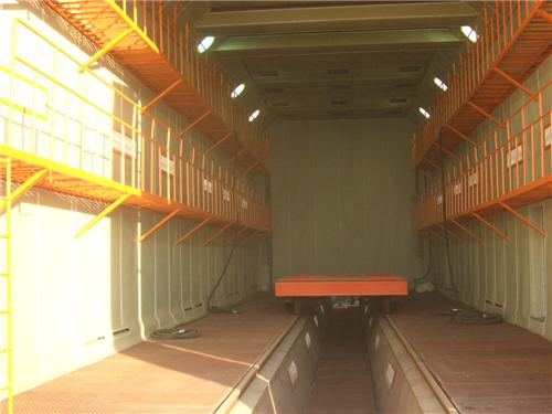 喷砂房-两侧双平台带地坑喷砂房操作间