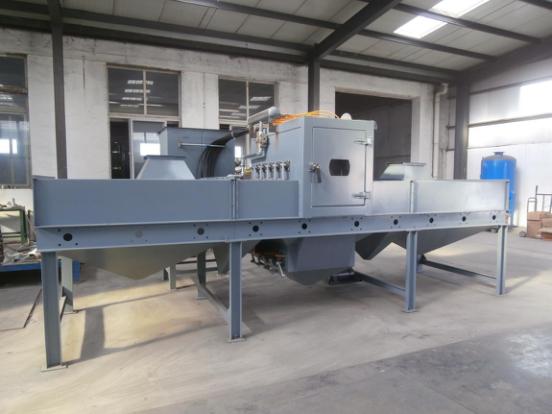 金属表面板材通过式自动喷砂机