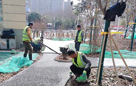 郭杜北公园透水路面工程