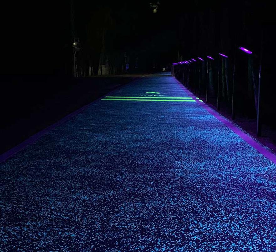 夜光透水路面