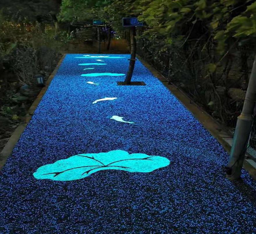 彩色防滑颗粒夜光透水路面