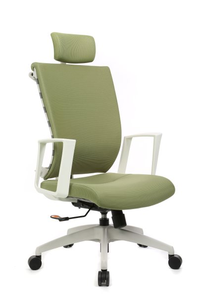 白色三段锁定型福利布椅