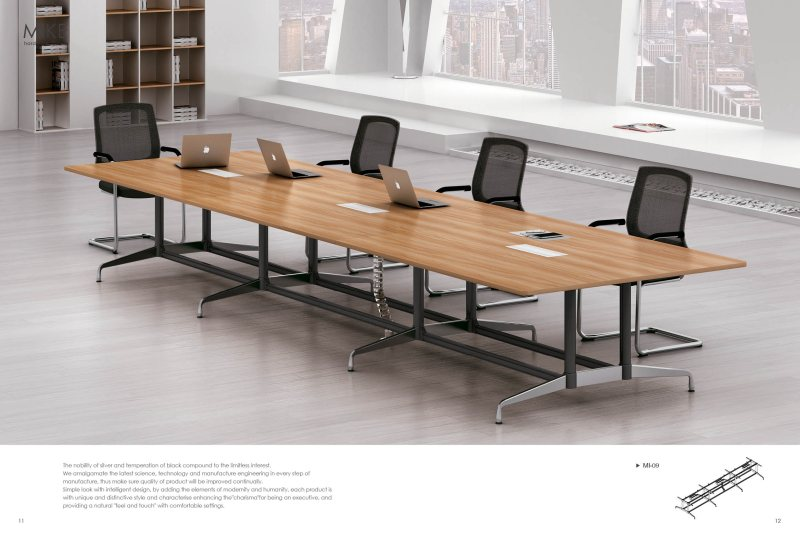 钢木会议桌3