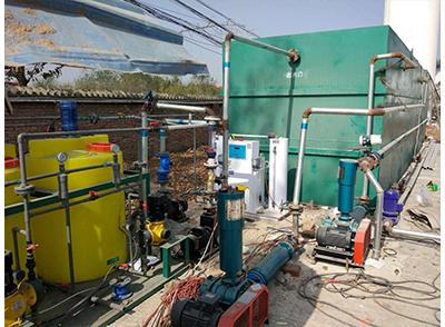 西安喜神食品公司工業MBR一體化污水設備安裝調試