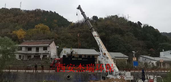 现代农业园区农村MBR污水处理设备安装成功