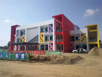 西安市馬坊村中心幼兒園雷諾橡膠地板施工
