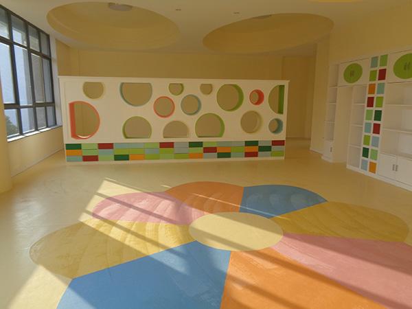 片材橡胶地板让拼花造型变得非常简单