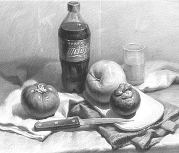 """西安明画室教学:素描绘画中""""黑白灰""""的正确处理方式"""