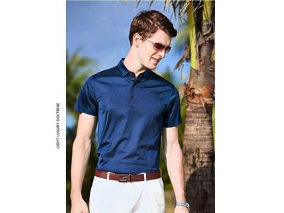 夏季男士商務時尚Polo衫2