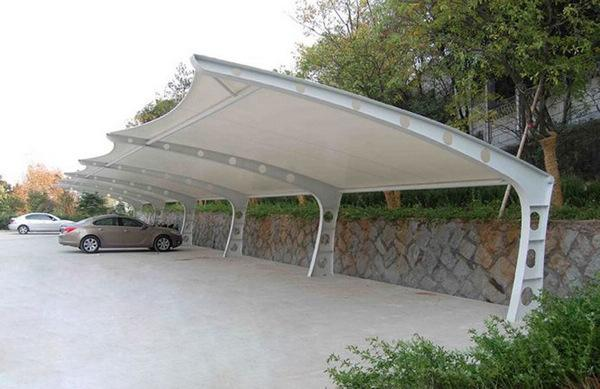 膜结构充电桩车棚