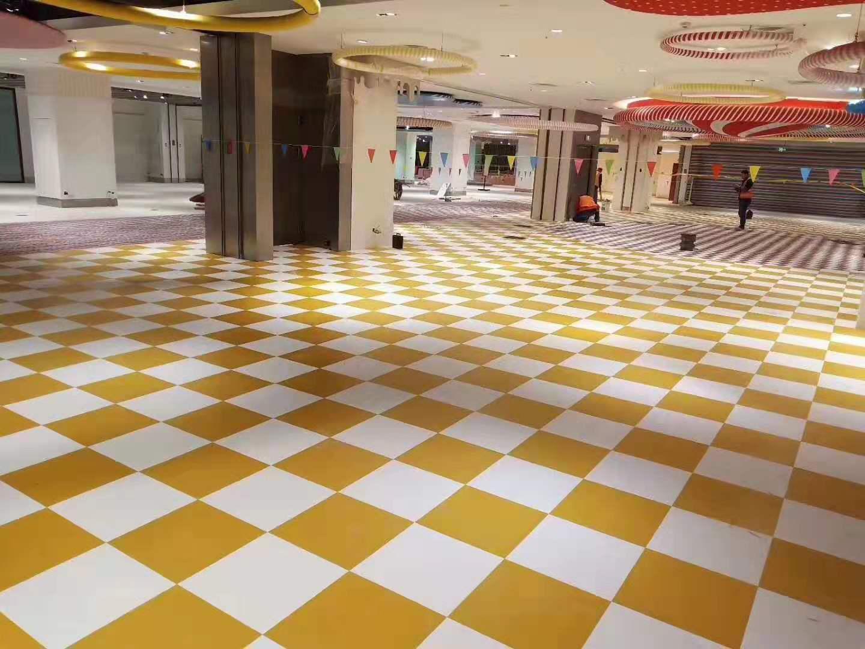 商場防滑塑膠地板案例