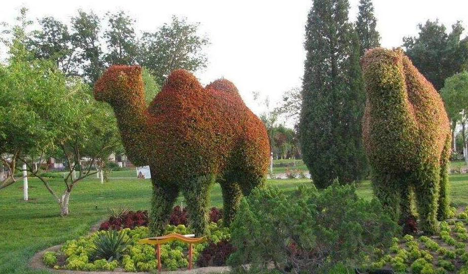 動物綠雕制作