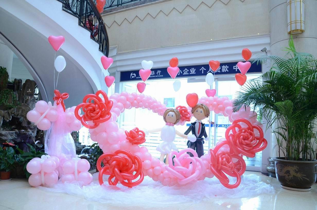 西安婚礼装饰气球,西安气球卡通造型_蝴蝶气球装饰部