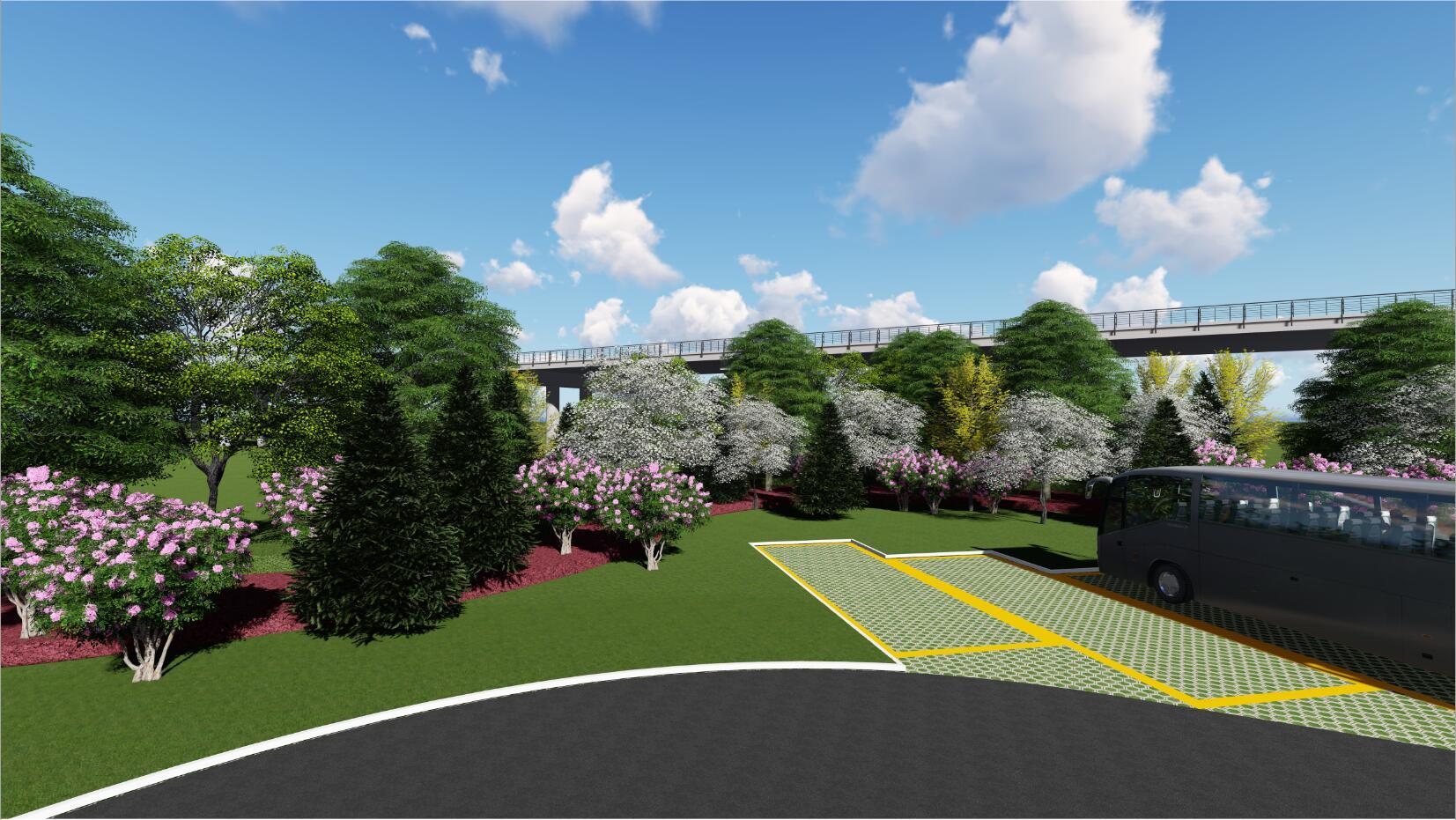 五丈原景区迎宾大道生态停车场方案