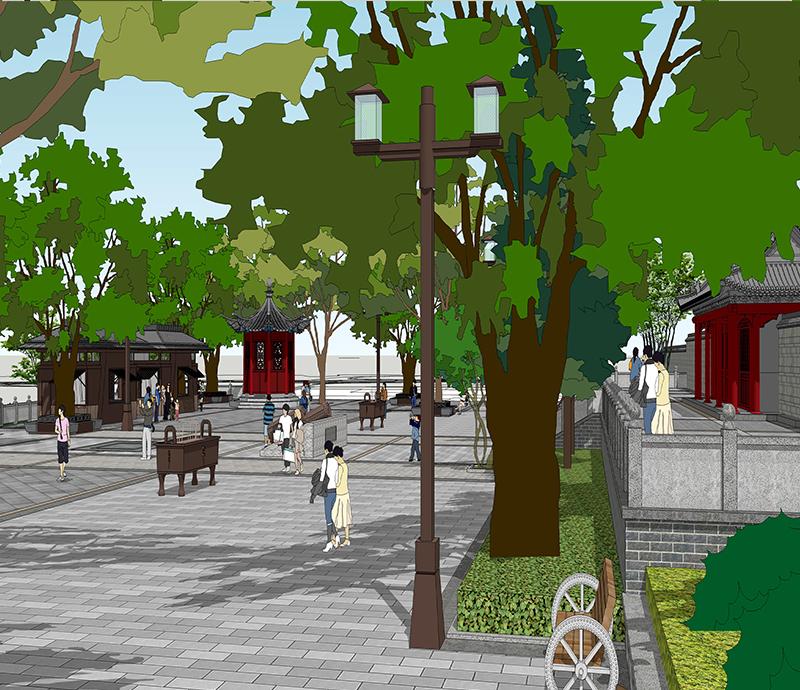 五丈原诸葛亮庙广场景观提升设计方案