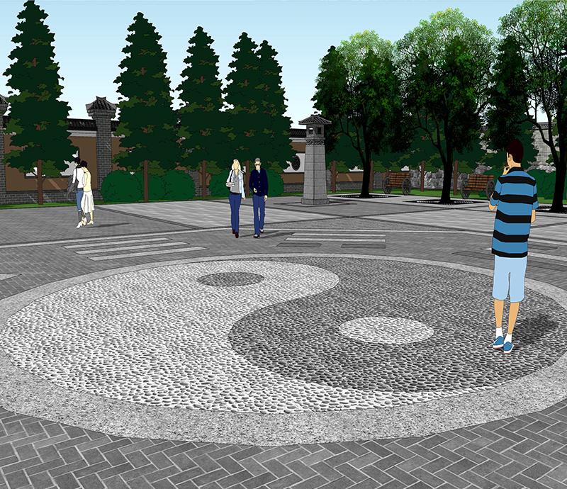 诸葛亮庙东侧广场景观设计