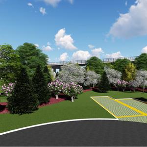 五丈原景区迎宾大道生态停车场景观设计
