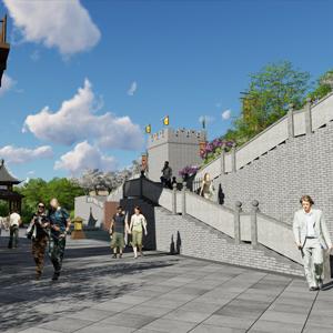 五丈原卧龙文化广场景观方案设计