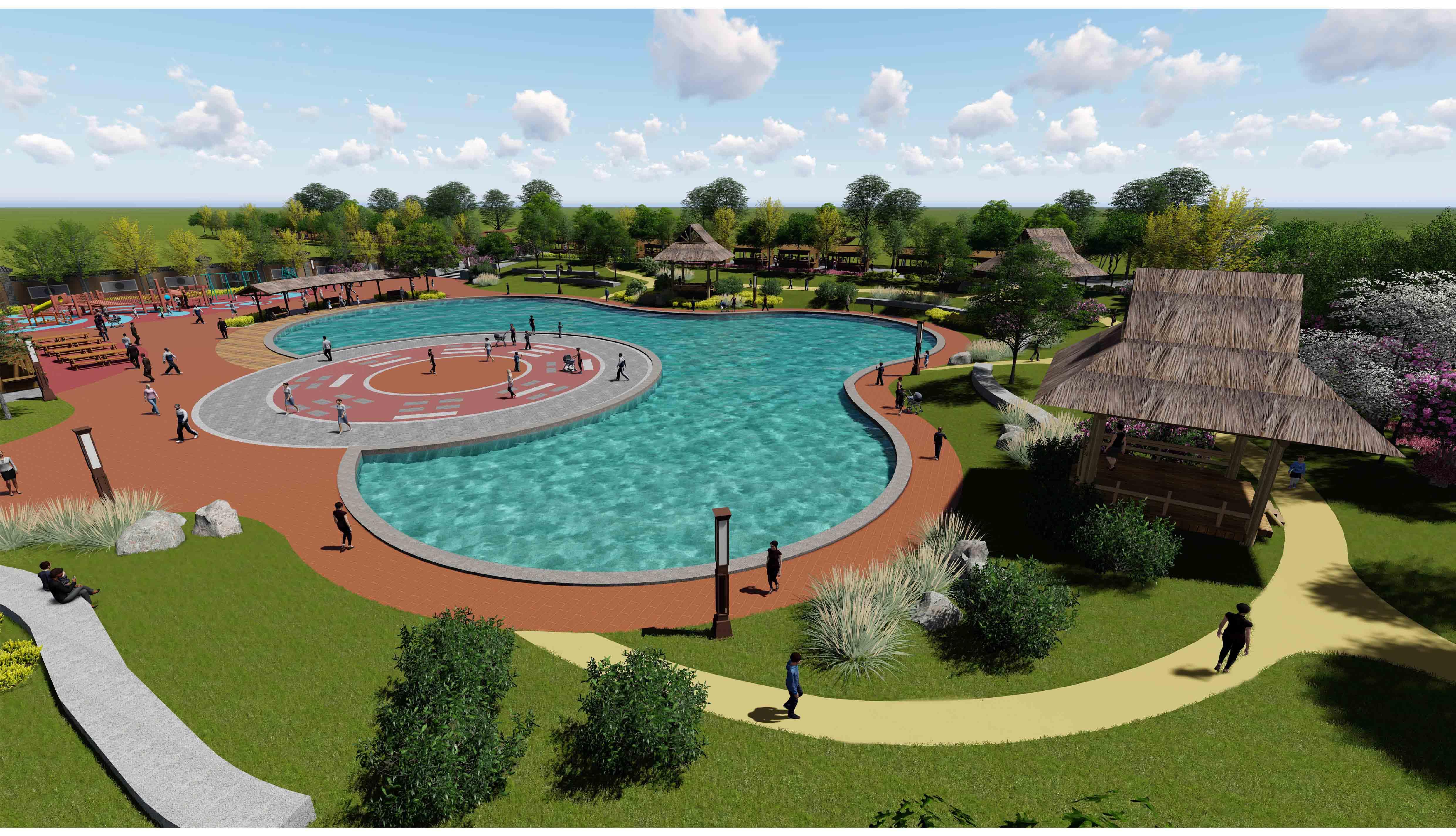 戏水池游乐区景观设计