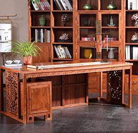 实木中式办公桌