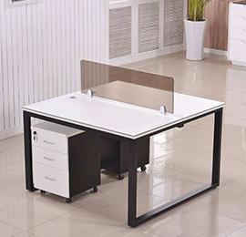 现代简约两人屏风办公桌