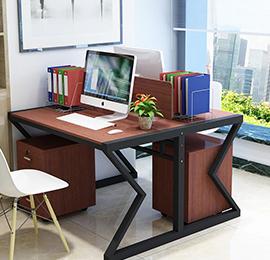 现代简约两人办公桌