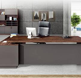 钢木大班台老板桌