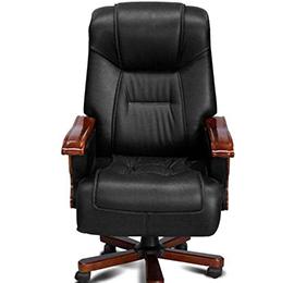实木真皮老板椅