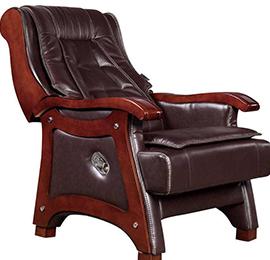 真皮实木老板椅