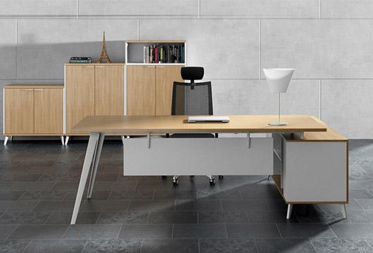 钢木简约型经理主管桌