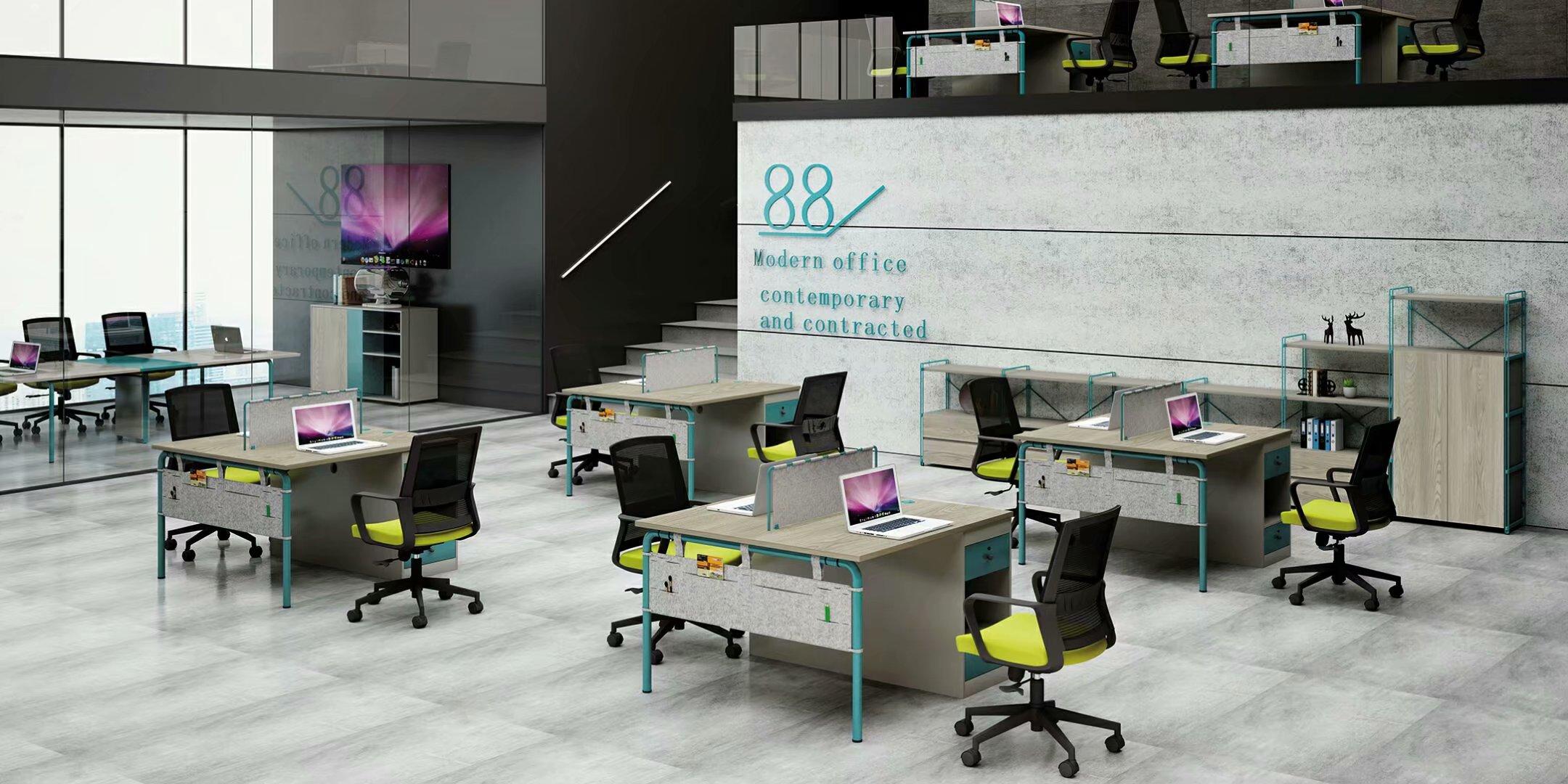 简约时尚电脑办公桌椅组合