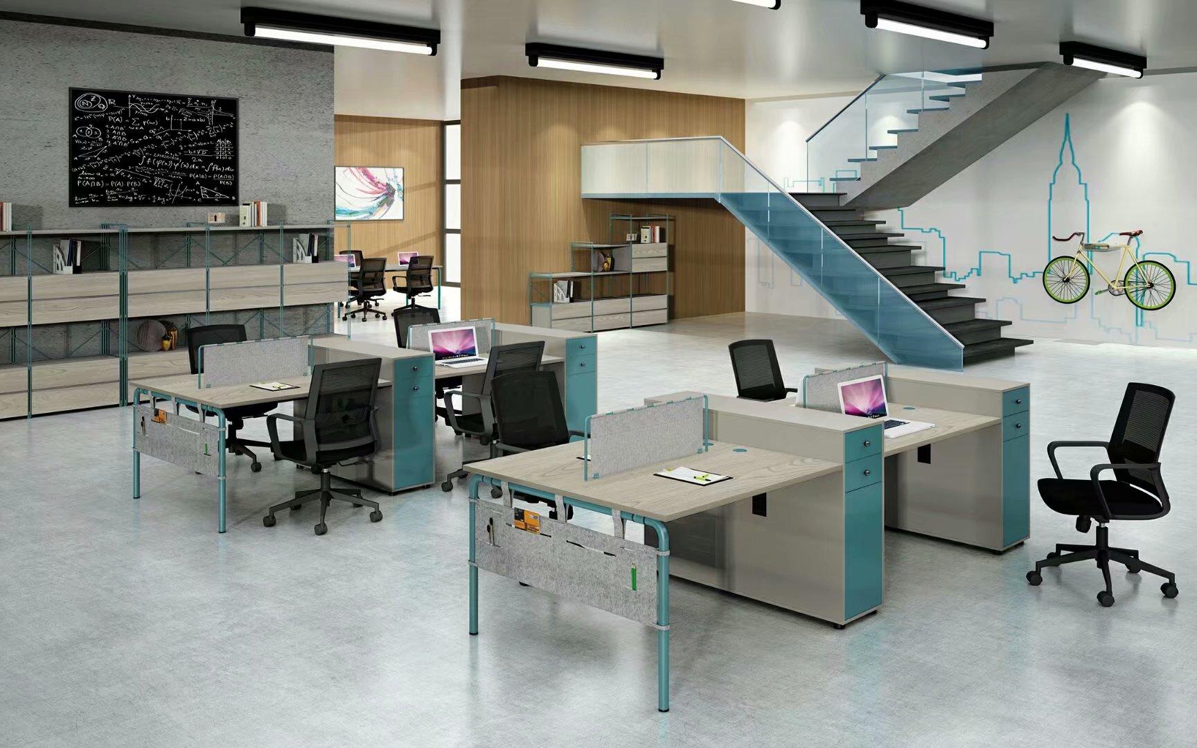 双人组合简约型办公桌