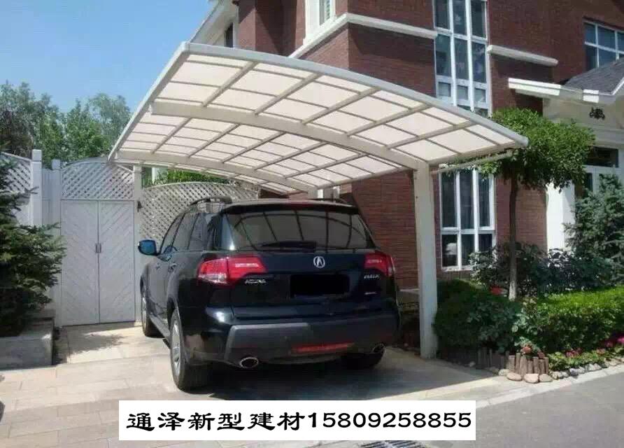 下雨天膜结构车棚安装要找对公司