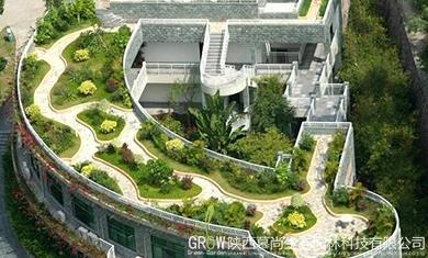 屋顶绿化制作