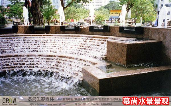 水景工程,西安水景工程,西安水幕墙工程,西安水帘工程,西安喷泉工程,西安拉线水幕工程