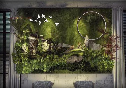 模块式室内苔藓植物墙