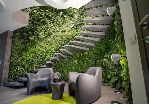 室内异形空间仿真植物墙