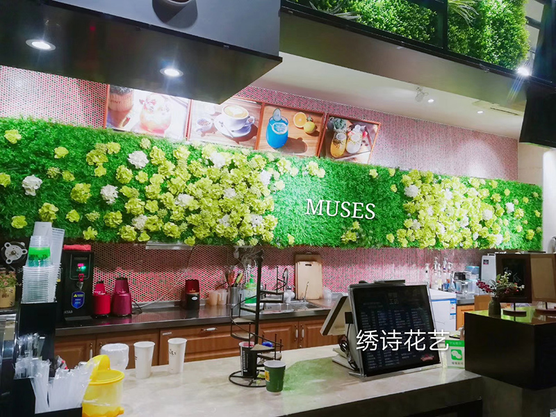 西安咖啡厅植物墙设计