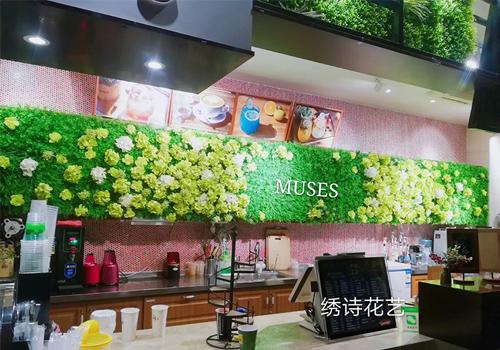 咖啡厅仿真植物墙