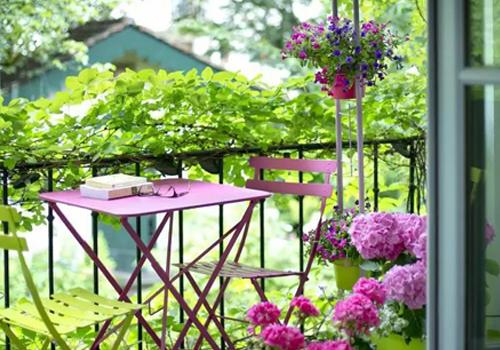 开放式阳台花园