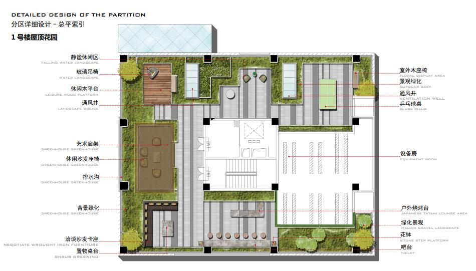 西安泰航航天丝路科学园屋顶花园景观设计