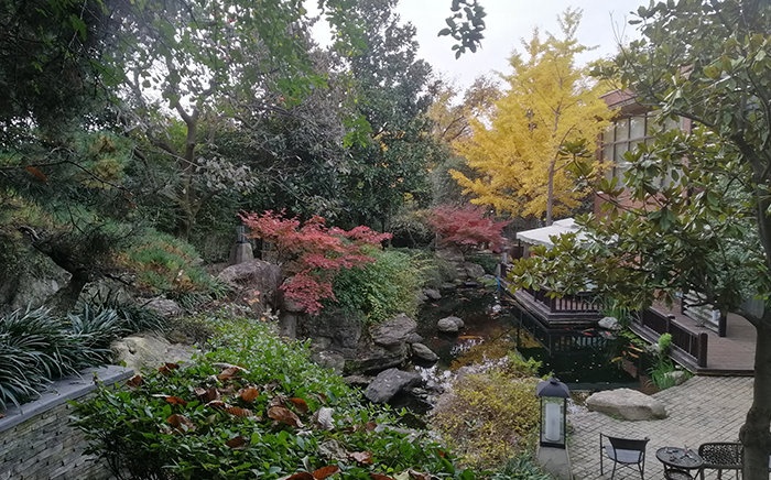 西安紫薇山庄别墅庭院景观设计案例