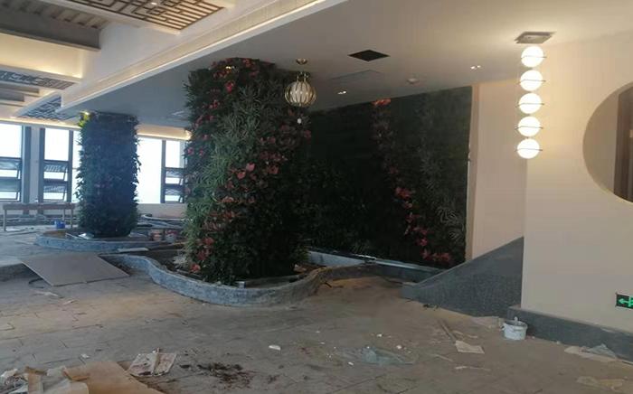 财富中心三期室内植物墙设计安装案例