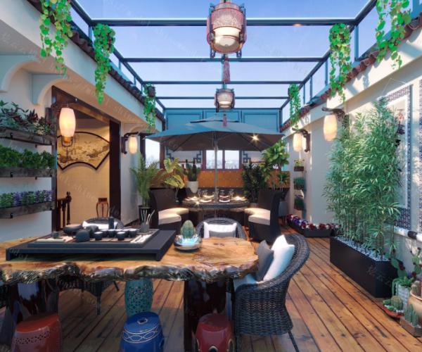 屋顶花园阳光房